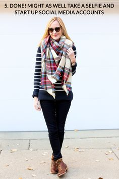 How to tie a blanket scarf-87a