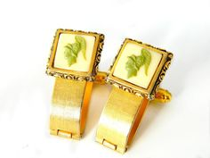 Dante Museum Masterpiece Cufflinks Rare Incolay Cameo Collectable Accessory For Men Vintage Greek Roman Warrior Green White by JewelryQuestDesign, $105.99