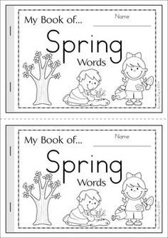 My Book of... Spring Words