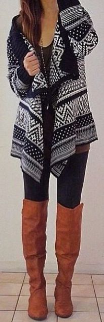 fall outfit ideas / aztec print + OTK boots