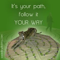 It's your path, follow it YOUR way... a good reminder for the start of the week.