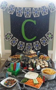 nothing like pinterest to make you want to do way more than is reasonable.  Wow, where do these people get the time to do this.  A totally awesome Star Wars party idea link none the less.
