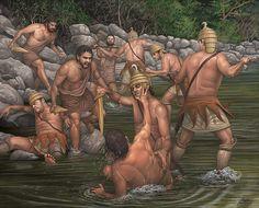 Batalla entre bárbaros y guerreros de Pilos - by Ángel García Pinto