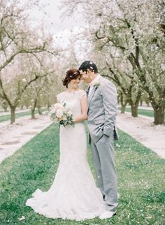 Wedding Photography Ideas : pink peach and green spring shoot