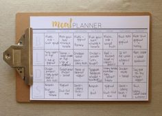 Meal Planner in A4 from Cathartic Malarkey