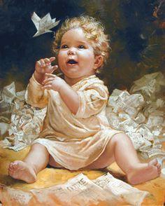 Pittura e scultura 485be69a79ffc4b73fb7abfdd3f9e174--angel-paintings-art-children