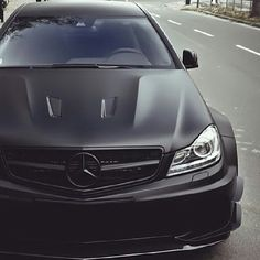 Badass Matte Black Mercedes SLS AMG