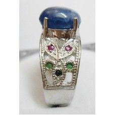 9.060 Gms Natural Srilankan Sapphire Ring in 925 Sterling Silver Ring