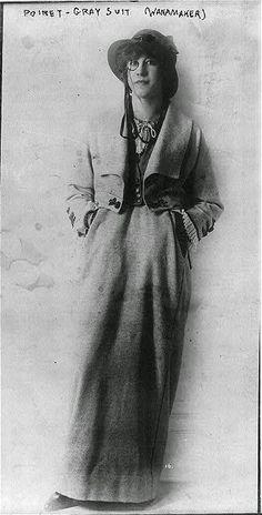 * Poiret gray suit ca 1910