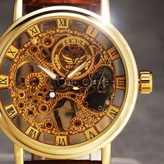 2016 New Hand-Wind Skeleton Men's Watches Vintage Dress