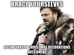 Brace yourself via Meme Generator