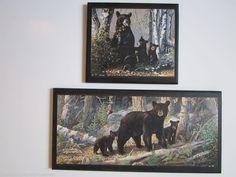 Black Bears 2 wall decor plaques  #customcraftedbyOzarkMountainHomestead
