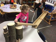 Physics in Kindergarten? This is why play is so important in Early Childhood Education! How else could children begin to have a. Kindergarten Stem, Homeschool Kindergarten, Preschool, Early Childhood Activities, Early Childhood Education, Nursery Activities, Toddler Activities, Eyfs Classroom, Earth Day Crafts