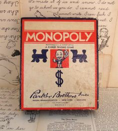 Vintage monopoly board game < This is the one we played ! For HOURS.
