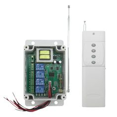 TD TAD-YK40A-2A-3000 220V Wireless RF Remote Control Relay Switch Transceiver+Receiver #Affiliate
