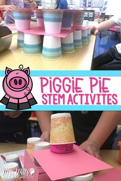 Check out these STEM activities and lesson ideas for kindergarten and 1st grade that go along with the read aloud, Piggie Pie.