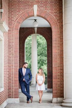 Under the arches at this Vanderbilt Engagement Session by Knoxville Wedding Photographer, Amanda May Photos. Engagement Session, Engagement Photos, Amanda May, Nashville Photographers, Vanderbilt University, Male Style, Photoshoot, Mens Fashion, Arches