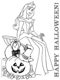 Halloween Coloring Pages For Kids Free Printables Princess PagesDisney