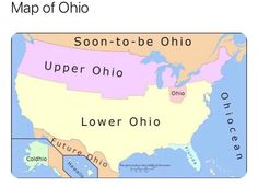 THE United States of Ohio : OSU Best Memes, Funny Memes, Hilarious, Ohio Map, Stuff And Thangs, Fun Stuff, Dad Jokes, Daily Memes