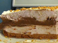 Chocolate Pudding Skor Cheesecake (No-bake) Recipe via @SparkPeople
