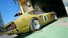Datsun 240Z race car. Classic Japanese Cars, Japanese Sports Cars, Classic Cars, 240z Datsun, Datsun Roadster, Ferrari, Lamborghini, Bugatti, Nissan Infiniti