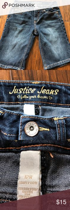 Girls Justice Bermuda shorts Girls Justice Bermuda shorts in excellent condition, no rips, tears or stains. Girls size 12 Bottoms Shorts
