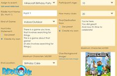 Have a Minecraft scavenger hunt birthday party game using Riddle Me.