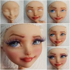 Doll repaint tutorial monster high faces 63 Ideas for 2019 Doll Repaint Tutorial, Doll Tutorial, Doll Face Paint, Doll Painting, Monster High Repaint, Monster High Dolls, Ooak Dolls, Art Dolls, Polymer Clay Dolls