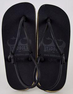 ff989605da88 Tiddies Black Synthetic Unisex Sandals Large 9-10 Used  Tiddies   SportSandals Mens Flip