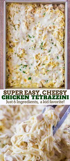 Chicken Tetrazzini - Dinner, then Dessert Chicken Tetrazzini is a creamy baked chicken and mushroom pasta dish with chunks of chicken and mozzarella cheese you can make ahead or get it in the oven in just 15 minutes. Chicken Tetrazzini Recipes, Chicken Recipes, Chicken Tetrazzini Casserole, Creamy Turkey Tetrazzini Recipe, Chicken Treats, Recipes With Mozzarella Cheese, Chicken With Mozzarella, Chicken Chunks, Cooking Recipes