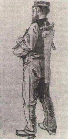Vincent van Gogh (Dutch: 1853 – 1890) | Carpenter, Seen from the Back  (1882)