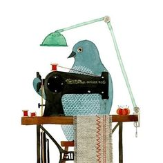 Crafty Bird  I love this print!!