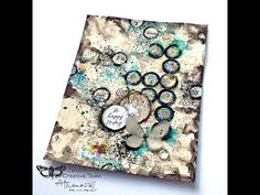 Mixed Media art Journal page 'Happy Thoughts' for Finnabair CT - YouTube
