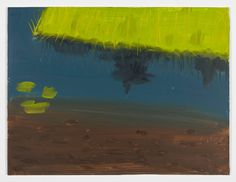 Alex Katz Reflection with Lilies 2010 Oil on board 9 x 12 inches