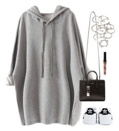 """""""180."""" by roldanrocio ❤ liked on Polyvore featuring Yves Saint Laurent, adidas and Forever 21"""