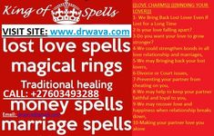 WAVA IS A POWERFUL +27603493288 psychic SPELL CASTER /TRADITIONAL HEALER and clairvoyant using native divine spiritual healing  Analyze uses ability to tune into most relationship problems and focuses on the emotions related in all aspects of the reading. THE LOVE SPELL, is a mixture of the strongest herbs and traditional spiritual medicine, the herbs are made strong to react faster than you expect and ensures that it brings back your lost loved one to you for LIFE.  I work with your guides Falling Apart, Falling In Love, Bring Back Lost Lover, Lost Love Spells, Spell Caster, Relationship Problems, Healer, Love Is All, Revenge