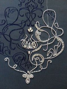 Beaded embroidery pattern