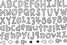 Cute classroom font links