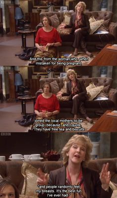 < That is so funny! I love Miranda!<<I'd join anything for free tea and biscuits tbh Miranda Tv Show, Miranda Bbc, British Humor, British Comedy, British Sitcoms, Miranda Hart Quotes, Sarah Hadland, Comedy Tv, Humor