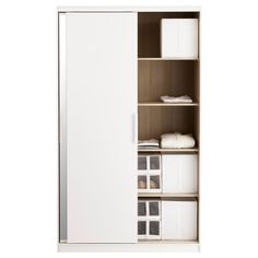 trysil wardrobe w sliding doors 4 drawers white light grey ikea 170 154x205cm small room. Black Bedroom Furniture Sets. Home Design Ideas