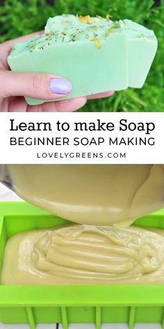 Handmade Soap Recipes, Soap Making Recipes, Handmade Soaps, Soap Making Process, Cold Process Soap, Homemade Soap Bars, Home Made Soap, Doterra, Tricks