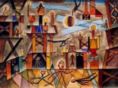 Teatro - Xul Solar (Oscar Agustin Alejandro Schulz Solari) - argentino (1887-1963)