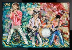 'What Price Tickets', limited edition artwork by Ronnie Wood from the Raw Instinct collection.. must visit!