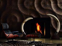 wall panel and textured deco: a wonderful world - Decoration World Timber Walls, Wooden Walls, Interior Walls, Modern Interior, Wall Cladding Designs, Zebra Skin Rug, 3d Wandplatten, Panneau Mural 3d, 3d Wall Decor