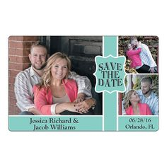 WE NEED TO GET THESE!!! Save the Date Triple Image Custom Photo Magnets - OrientalTrading.com