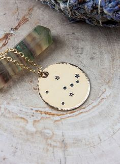 Hey, I found this really awesome Etsy listing at https://www.etsy.com/listing/195037494/taurus-constellation-zodiac-necklace