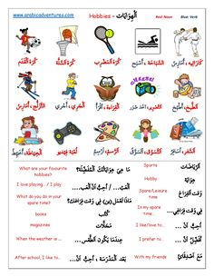 arabic english vocab worksheet kids at DuckDuckGo Arabic Verbs, Arabic Text, Arabic Phrases, Write Arabic, Spoken Arabic, Learn Arabic Online, Learn Arabic Alphabet, Arabic Lessons, Alphabet Writing