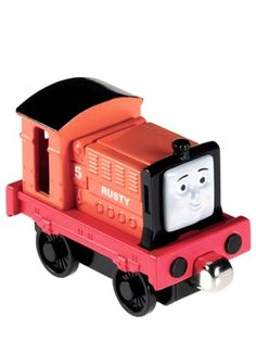 Fisher-Price Thomas & Friends Take-n-Play Rusty Die-Cast Engine, Multicolor Thomas And Friends Engines, Thomas And Friends Trains, Animated Halloween Props, Folded Up, Toddler Toys, Fisher Price, Diecast, Bean Bag Chair, Baby Kids