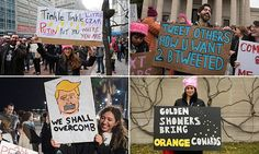 The boldest placards from the Trump protests