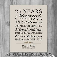 Wedding Gifts For Parrents 25 Year Anniversary Gift Anniversary Art Print Personalized Anniversary Gift for Parents Anniversary Gift for Wife Funny Gift - 25th Wedding Anniversary Quotes, 25 Wedding Anniversary Gifts, Anniversary Gifts For Parents, Personalized Anniversary Gifts, Gift For Parents, Anniversary Poems, 60 Year Anniversary, Wedding Gifts, Anniversary Flowers